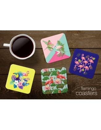 Tea Coasters - Flamingos