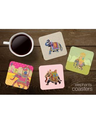 Tea Coasters - Elephants