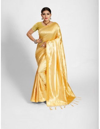 Gold Tanchoi Silk Saree