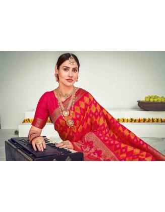 Beautiful Banarasi With Zari Weaving Silk Saree