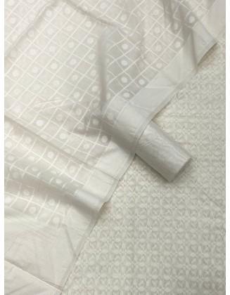 Sophisticated White Patola Resham Weaved Suit