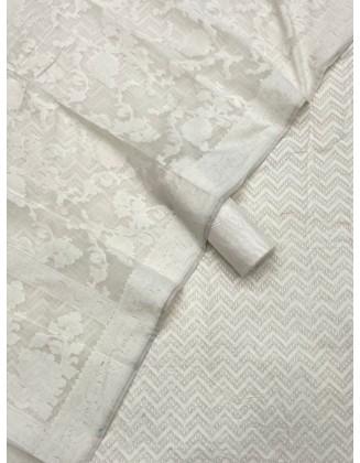 Lovely White Patola Resham Weaved Suit