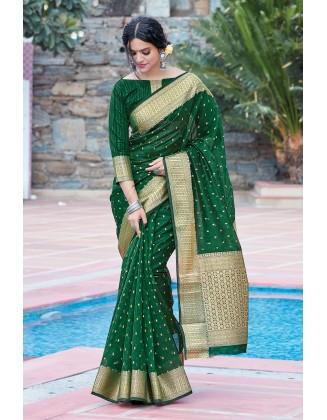 Designer Green Organza Saree