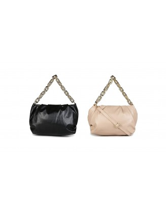 Panchnaina Stylish Sling Bag With Golden Chain Combo Black- Peach