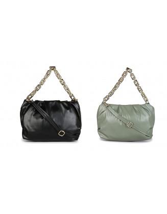 Panchnaina Stylish Sling Bag With Golden Chain Combo Black- Green