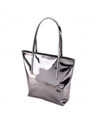 Panchnaina Women Gun Metal Handbag