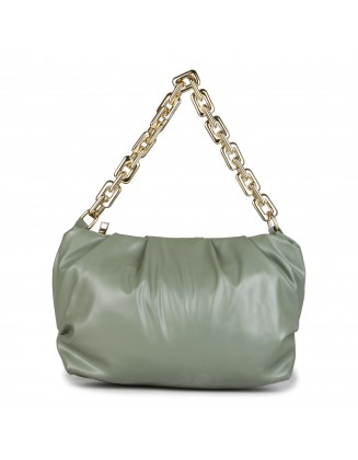 Panchnaina Pastel Green Sling Bag With Golden Chain