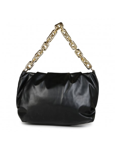 Panchnaina Black Sling Bag With Golden Chain