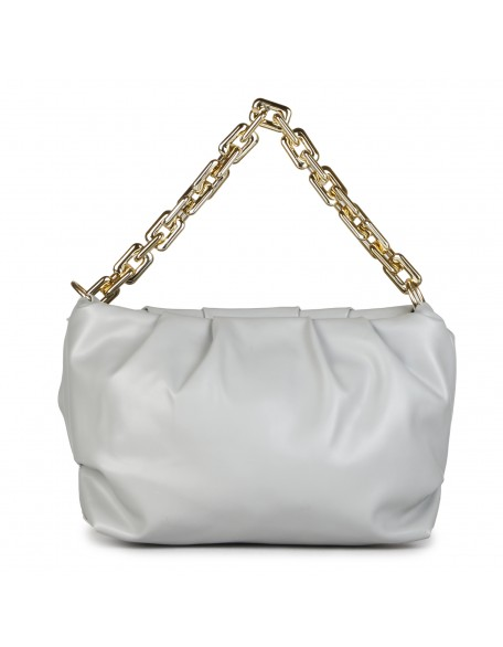 Panchnaina Pastel Grey Sling Bag With Golden Chain